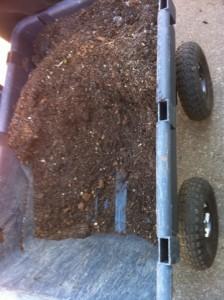 Cart full of soil